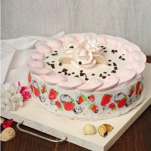 Торт «Клубника со сливками» 1,2 кг.