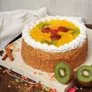 Торт «Фруктовый коктейль» 0,6 кг.